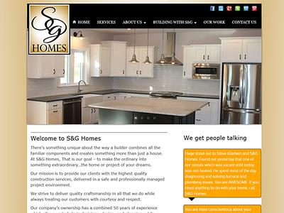 S&G Homes Website graphic design logo design website design home builder webdesign