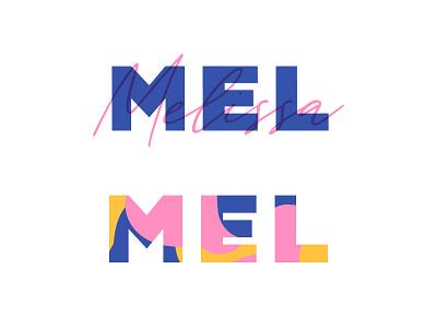 Personal brand logo design typography color palette color melissa mel logo self branding self brand personal logo personal branding personal brand brand identity brand design branding brand