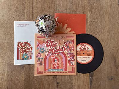 KVC Gala 2020 Invitation color color palette design invitation design music album vinyl record vinyl record album album record groovy hippie disco 70s gala invite print invitation