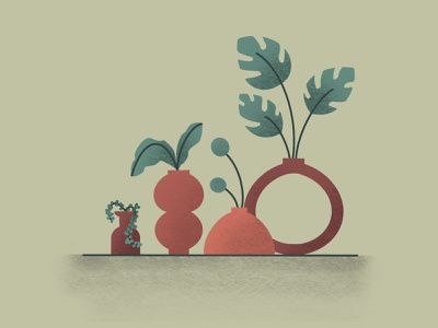 Keep Plants Alive procreate app texture procreate art vases vase keep alive growth grow plants procreate vector illustration color design color palette