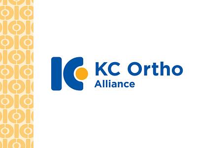 KCOA logo original concept doctor alliance kc kansas city vector color logo design brand color palette icon pattern ortho orthopedics orthopaedics orthopedic branding logo