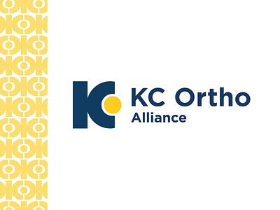 KCOA final logo pattern doctor orthopaedics orthopedic ortho kansas city icon logo design logo brand branding design color color palette