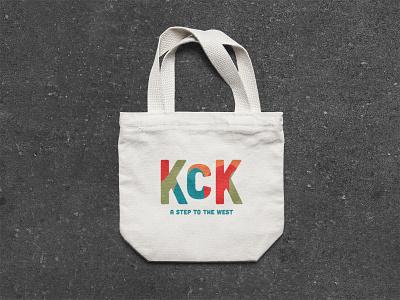 KCK Tote Bag mockup bag tote tote bag midwest west kansas city kansas kck kansas icon kansas city logo brand typography branding design color color palette