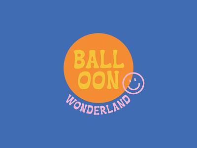 Balloon Wonderland pop-up selfie balloons balloon logo vector brand branding illustration design color color palette