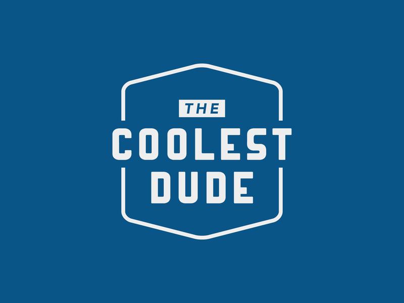 The Coolest Dude logo badge vector dude cool apparel logo apparel website typography logo branding illustration design
