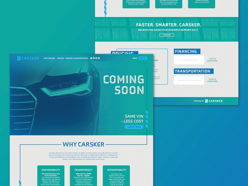 Carsker: website homepage tech digital website design web design web car dealer cars car website gradient color design