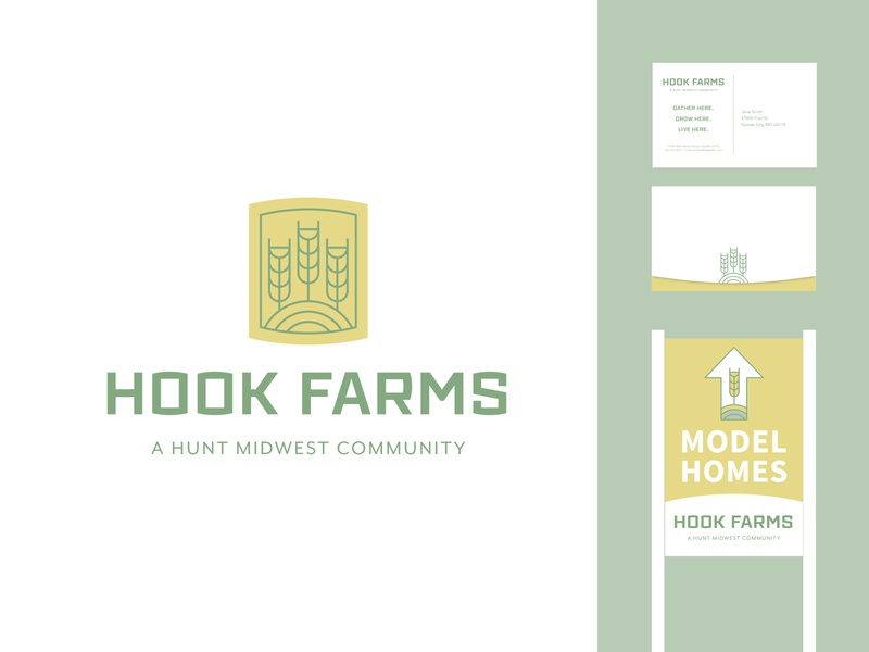 Residential community branding modern farmhouse farmhouse modern community real estate house brand logo color typography color palette branding illustration design