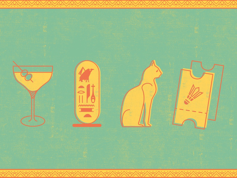 Party Arty 2020: icons egyptian egypt queen museum of art museum art party texture pattern hieroglyphics icons icon vector brand color branding color palette illustration design