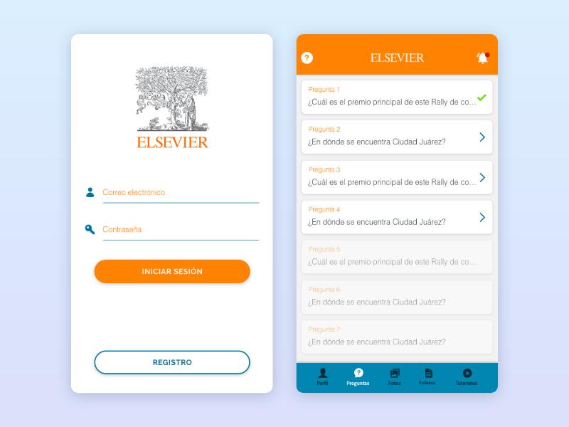 Elsevier Games App mexico mobile apps diseño de app institute ui design research mobile application mobile app design ui elsevier