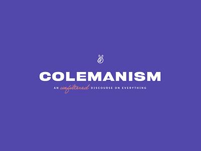 Colemanism Logo podcast logo podcast lockup identity logo branding
