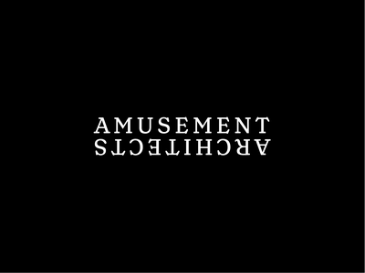 Amusement Architects Logo wordmark lockup identity branding logo