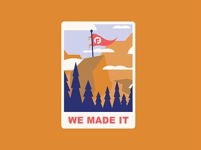 Surviving 2020 design survival strength flag hiking focus lab 2020 mountains illustration patch