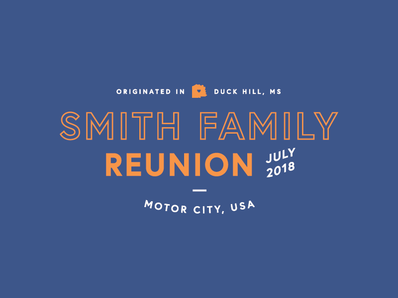 Smith Family Reunion T Shirt Design By Frnchquart Studio Dribbble