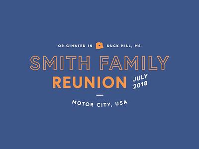 Smith Family Reunion T-Shirt Design lockup type detroit reunion family reunion t-shirt design mark logo