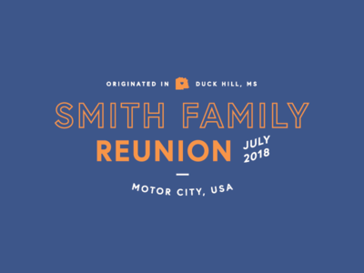 Smith Family Reunion T-Shirt Design
