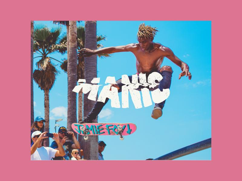 Wordmark for Manic typography type design identity grunge branding wordmark logo design logo