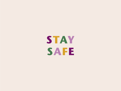 Stay Safe hurricane season louisiana new orleans nola mardi gras type typography