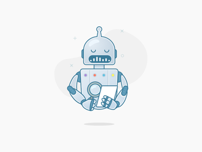 Listbot mobile iphone android ios outline robot illustration