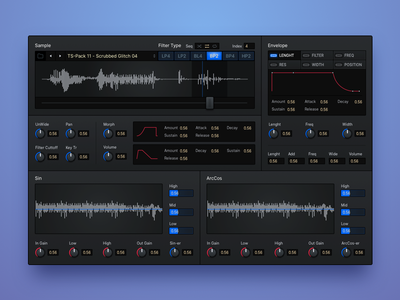 ⚡️Wavy Tables ⚡️ ui interface vst music plugin minimal knob dark daw
