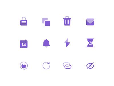 Icons calendar icon lock trash user interface ui icon design icons