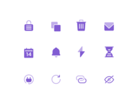Icons calendar icon lock trash user interface ui icon design icons