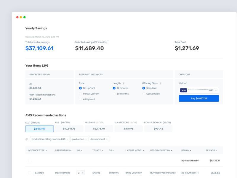 Savings Page payment admin panel cms savings tables table ux clean ui minimal interface dashboad