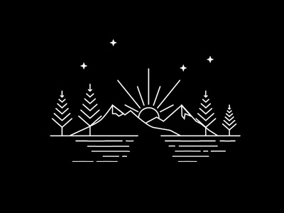 Mountains illustration icons icondesign camping campvibes adventure mountains landscape design