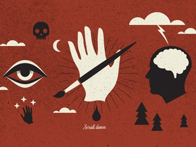 Esco 2016 symbolism minimal iconography website design eye flat brainstorming icons vector illustrator illustration