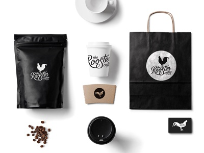 The Rooster type typography lettering design coffee product layout logo branding
