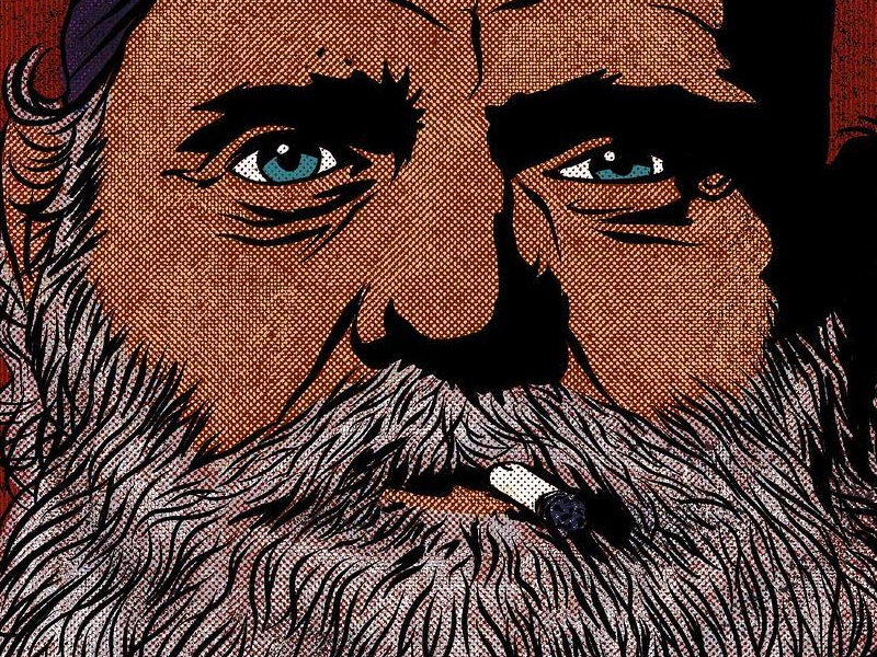 Portrait No. 3 ipadpro procreate illustrator biker true grit halftone illustration portrait