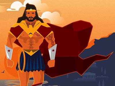 Gender-Bent Wonder Woman themyscira comic books comics dc hercules wonder man greek superhero wonder woman
