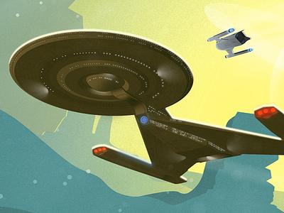 Star Trek Discovery science fiction sci-fi poster illustration star trek star trek discovery cbs tv