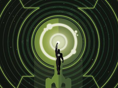 Star Trek/Green Lantern Vol 2 #3 variant cover flat design vector illustration sci-fi superhero illustration idw dc cover comic book green lantern star trek