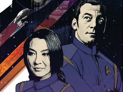 Star Trek: Discovery - The Vulcanian Expedition  spaceship illustrator television science fiction space sci-fi poster illustration ncc-1031 uss discovery discovery star trek