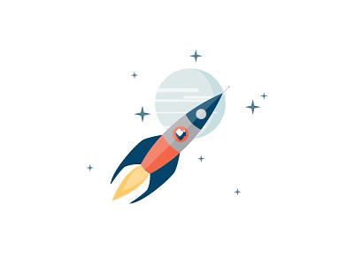 Why We Do It Rocket illustration rocket website
