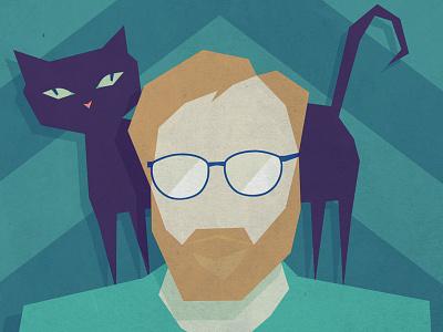 Aidan's Avatar illustration avatar cat portrait