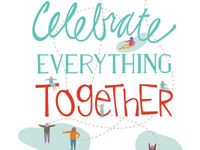 Celebration Invitation hand-drawn people celebrate party invitation illustration