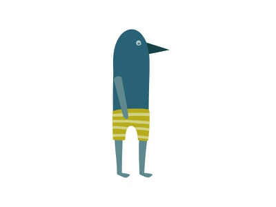 Birdguy bird illustration