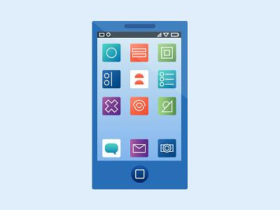 Smartphone illustration phone smartphone gradient illustration