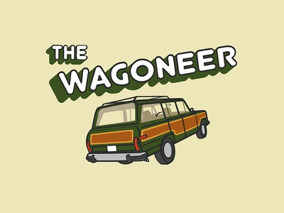 Wagoneer Logo vintage illustration art vector blog logo illustration