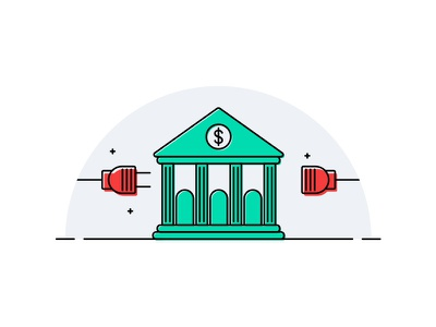 Can't connect email banking vector illustration