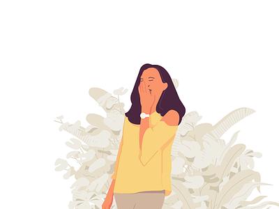 Monday women vector design illustrasi illustration