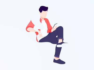 Smoke iconset icon illustrasi chat header design ui landingpage illustration