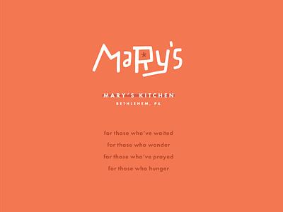 MARY'S II summer star restaurant logo fresh bright branding