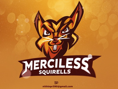 Merciless Squirells dribbble logo esports