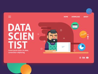 Data Scientist landing flat scientist data