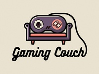 GamingCouch controller branding type flat dribbble affinity minimal logo design