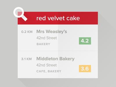 iOS App Walkthrough—Search by Dishes food zomato app ios tour walkthrough tutorial flat shadow long red ui