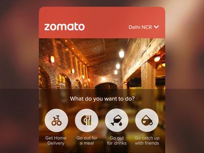 Zomato — Exploration for Home zomato ios iphone app home restaurant ios7 blur icon food