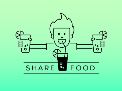 Line illustrations for Zomato illustration food zomato line outline icon drink boy glass lime straw